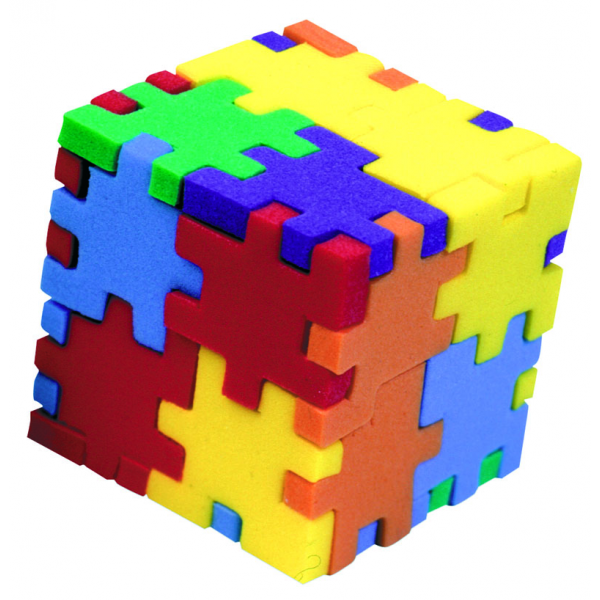 Picture of happy cubes that resembles the essence of the modular architecture